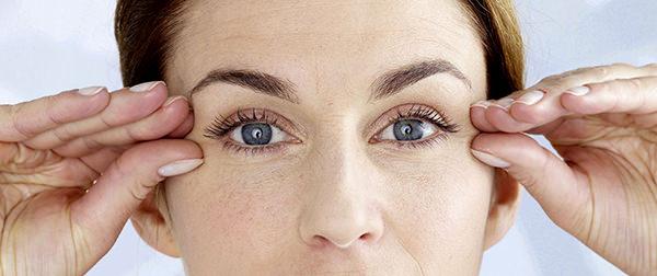 омолаживающий массаж глаз