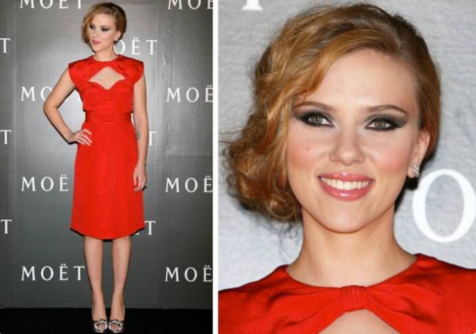 Макияж для красного платья