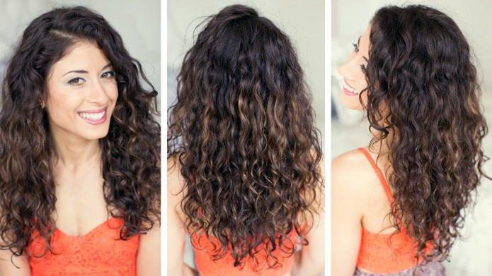 вьющиеся пушистые волосы