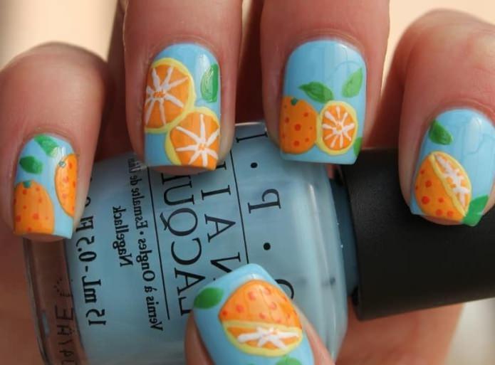 с рисунком апельсина