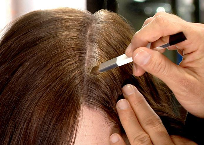 Как правильно покрасить корни волосы в домашних  856