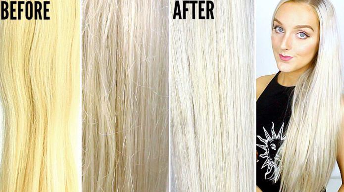 Как в домашних условиях убрать желтизну с окрашенных волос 113