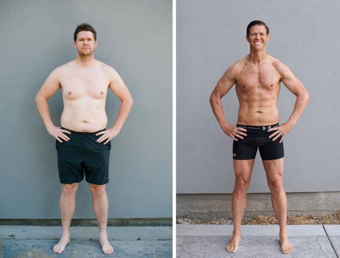 Как немного похудеть парню
